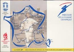 JO92-H/L2 - CPM Parcours De La Flamme Olympique Jeux Olympiques Albertville 1992 - Olympic Games