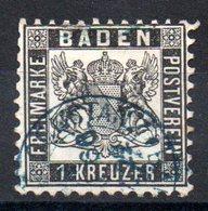 BADE - YT N° 16  - Cote: 20,00 € - Cachet Bleu - Baden