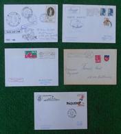 Cinq Enveloppes Oblitérées - Marine Nationale - Réunion - Années 1980 - Marcophilie (Lettres)