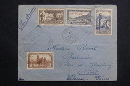 A.O.F. - Enveloppe De Aboisso Pour La France En 1945, Affranchissement Plaisant + Cachet De Propagande - L 61189 - Lettres & Documents
