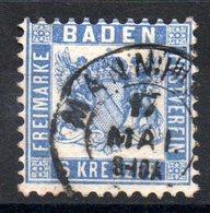 BADE - YT N° 18  - Cote: 30,00 € - Baden