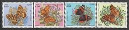 ALGERIE - N°1005/8 ** (1991) Papillons - Argelia (1962-...)