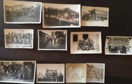 11 Petites Photos De Militaires Et 3 Lettres, Camp Militaire, Dogneville, 1934, Musiciens, Camion, Vosges, 88 - Guerre, Militaire