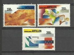 ANTILLAS HOLANDESAS 1993 - AMERICA UPAEP - YVERT 956/958** - West Indies