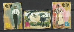 ARUBA 1996 - AMERICA UPAEP - YVERT 177/179** - Textile