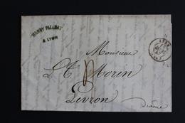 1847 LAC LYON CAD DU 11 MARS 1847 POUR LIVRON TAXE MANUSCRITE 4 DECIMES - 1801-1848: Vorläufer XIX