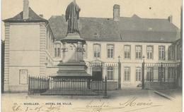 17. - NIVELLES : Hotel De Ville - TRES RARE VARIANTE - Cachet De La Poste 1905 - Nivelles