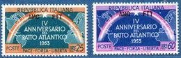 Trieste 1953 NATO Overprint AMG / FTT -2 Values MNH 2005.2613 - Mint/hinged