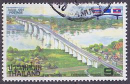 Timbre Oblitéré N° 1564(Yvert) Thaïlande 1994 - Pont De L'Amitié - Thaïlande