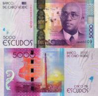 CAPE VERDE 5000 Escudos From 2014, P75, UNC - Cap Verde