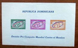 1963 Repubblica Domenicana EMISION PRO-CAMPANA MUNDIAL CONTRA EL HOMBRE - Foglietto Nuovo - Dominican Republic