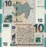 AZERBAIJAN, 10 MANAT, 2018/2019, P27b, UNC - Arzerbaiyán
