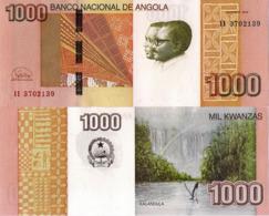 ANGOLA 1000 Kwanzas 2012 (2018) - Kalandula Falls, P156, UNC New Signature - Angola