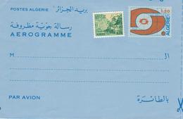 Aerogramme Zufrankierung Ungebraucht - Schlucht Von Alcantara - Argelia (1962-...)