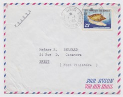 Enveloppe DJIBOUTI 1963 Timbre Cote Francaise Des Somalis 25 F Par Avion - 1961-....