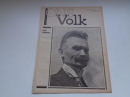 "( 2425 ) Volledig Tijdschrift  16 Blz.  "" Ons Volk ""  1932 :  Stijn Streuvels  Ingoyghem  Ingooigem - Vieux Papiers"