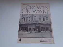 """Origineel Knipsel ( 2427 ) Uit Tijdschrift """" Ons Volk """"  1932  : Boekhandel  Librairie  Antwerpen Brussel Leuven - Oude Documenten"""