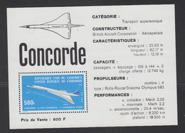 1976-CAMEROUN-BLOC N°9** CONCORDE - Camerun (1960-...)