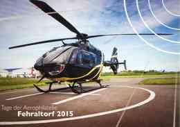 """Entier Postal De 2015 Sur Carte Postale Avec Timbre Et Illustration """"Journée De L'Aérophilatélie - Hélicoptère"""" - Hélicoptères"""