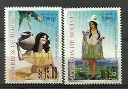 BOLIVIA 1997 - TRAJES REGIONALES - AMERICA UPAEP - YVERT Nº 965/966** - Bolivia
