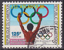 Timbre Oblitéré N° 880(Yvert) Cameroun 1996 - JO Atlanta - Camerun (1960-...)
