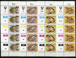 Venda Mi# 66-9 Zylinderstreifen Postfrisch/MNH Controls - Fauna Frogs - Venda