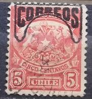 TELEGRAPH STAMP - 5 C-ERROR -OVERPRINT CORREOS-CHILE-1904 - Chile