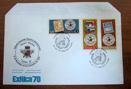 1970 VENEZUELA Busta FDC Exfilca70 Exposicion Filatelica Interamericana - Blasone Stemma - Venezuela