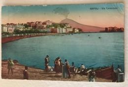 NAPOLI  - VI CARACCIOLO  - VIAGGIATA VERSO TARANTO 1924 - Napoli (Nepel)