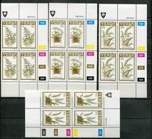 Venda Mi# 116-9 Zylinderblöcke Postfrisch/MNH Controls - Flora Ferns - Venda