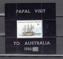 Australian Antarctic Territory 1986,Unlisted Block With Ovpt Papal Visit To Australia,MNH/Postfris(L3484) - Non Classés