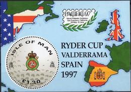Île De Man 1997 Yvertn° Bloc 32 *** MNH Cote 7,50 Euro Sport Golf Ryder Cup - Man (Insel)