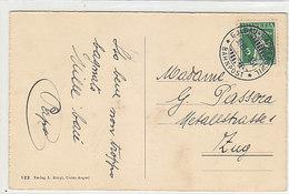 """Sauberer Bahnpoststempel """"Goldau-Rapperswil"""" Auf AK Von Morgarten - 1914     (P-242-91004) - Railway"""