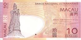 MACAO 10 PATACAS 2013 UNC P 80 C - Macau
