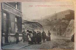 Liège - La Gare De Jonfosse (dominée Par L'Hôpital Militaire) Buvette De La Gare - Animée - 1910 - Etat: Pli 2 Scans - Liege