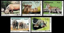 (300) Botswana  2018 / Animals / Animaux / Tiere / Dieren / Big 5 ** / Mnh  Michel 1097-1101 - Botswana (1966-...)