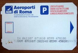 ITALIA Ticket Parking ADR Aeroporti Roma - 2007 Usato - Tickets - Entradas