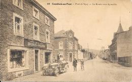 """Comblain Au Pont - N°10 - Commerce - Autos Motos Vélos """"BRISBOIS-PHILIPPIN""""La Route Vers Aywaille - Circulé:1908-2 Scans - Comblain-au-Pont"""