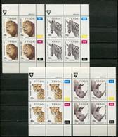 Venda Mi# 200-3Zylinderblöcke Postfrisch/MNH Controls - Fauna - Venda