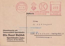 ALLEMAGNE 1946 ZONE ANGLO AMERICAINE CARTE EMA DE KLINGENBERG - American/British Zone