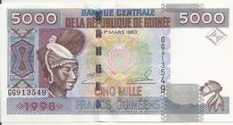 GUINEE 5000 FRANCS 1998 UNC P 38 - Guinea