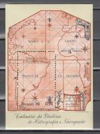 Brasil1976,1v In Block,country Map,landkaart,landkarte,carte Du Pays,mappa Del Paesel,MNH/Postfris(L3486) - Geography