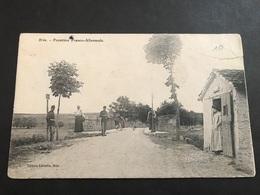 CPA 1900/1920 Brin Frontière Franco-allemande Cachet Rectangulaire Brin Est - Altri Comuni