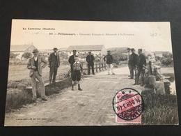 CPA 1900/1920 Pettoncourt Douaniers Français Et Allemands à La Frontière - Autres Communes