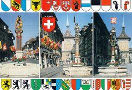 1 AK Schweiz * Bern - Zähringerbrunnen - Samsonbrunnen - Schützenbrunnen Und Zeitglockenturm * - BE Berne