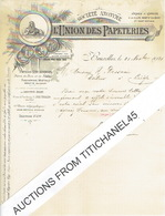 Lettre De 1901 - BRUXELLES - LA HULPE - MONT ST-GUIBERT - SAINT-SERVAIS - UNION DES PAPETERIES - Zonder Classificatie