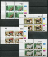Venda Mi# 250-3 Zylinderblöcke Postfrisch/MNH Controls - Fauna Cats - Venda