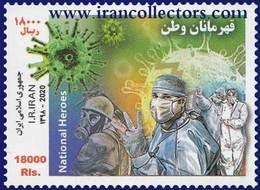 Iran 2020 National Heroes Stamp, Covid 19, Corona - Malattie