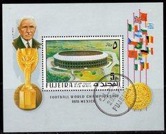 Fußball-WM 1970 Fujeira Block 27 O 3€ Stadion Mexico Flaggen Bloque Hoja Flags Ms Football Bloc S/s Sheet Bf ARABIA - Fußball-Weltmeisterschaft