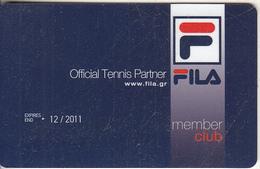 GREECE - FILA, Member Card, Exp.date 12/11, Used - Non Classificati
